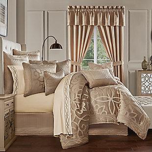 J. Queen New York Decade Queen 4 Piece Comforter Set, Gold, rollover