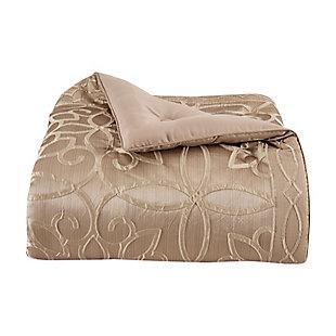 J. Queen New York Decade Queen 4 Piece Comforter Set, Gold, large