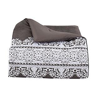 J. Queen New York Flint Queen 4 Piece Comforter Set, Charcoal, large