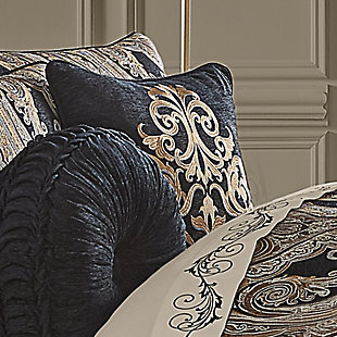 """J. Queen New York Lauretta 18"""" Square Embellished Decorative Throw Pillow, , rollover"""