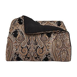 J. Queen New York Lauretta Queen 4 Piece Comforter Set, Black, large