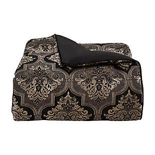 J. Queen New York Windham Queen 4 Piece Comforter Set, Black, large