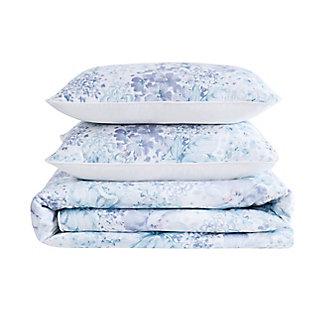 Cottage Classics Charlotte Floral 2 Piece Twin/Twin XL Comforter Set, Blue, large