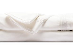 Healthy Sleep Ultra-Tech Tencel Twin Sheet Set, White, large