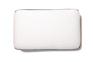 Healthy Sleep Therma-Tech Copper Low Profile Queen Pillow, White, rollover