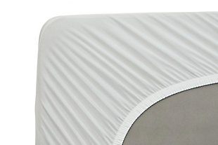 Healthy Sleep Therma-Tech Copper Twin Mattress Protector, White, large