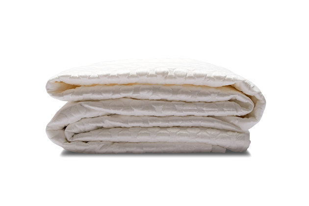 Healthy Sleep Therma-Tech Copper Full Mattress Protector, White, large