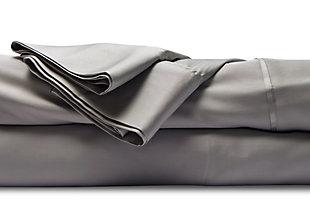 Healthy Sleep Cool-Tech Queen Sheet Set, Gray, large