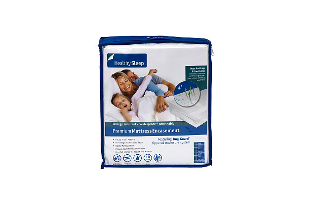 Healthy Sleep Premium Twin Encasement, White, large