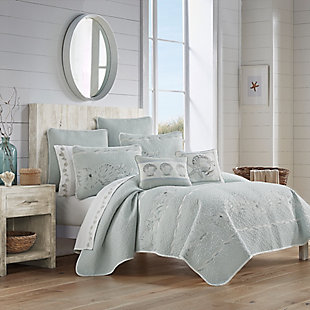 Royal Court Water's Edge Twin/Twin XL Quilt Set, Aqua, rollover