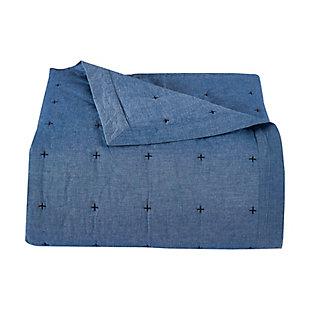 Oscar Oliver Ellis Full/Queen Quilt Set, Blue, large