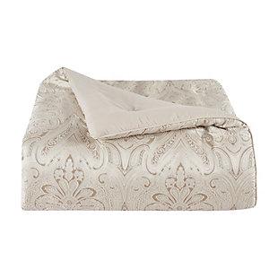 J. Queen New York Trinity Queen 4 Piece Comforter Set, Champagne, large