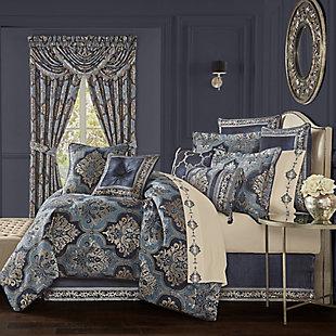 J. Queen New York Middlebury Queen 4 Piece Comforter Set, Indigo, rollover