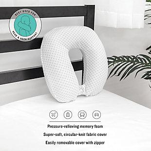 SensorPEDIC® Conforming Memory Foam U-Neck Accessory Pillow, , rollover