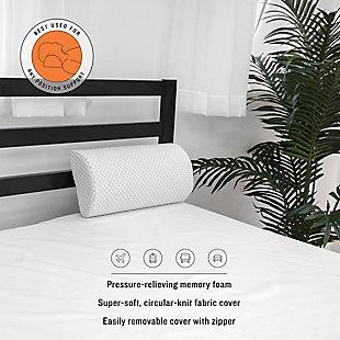 SensorPEDIC® Conforming Memory Foam Any Position Bolster Pillow, , rollover