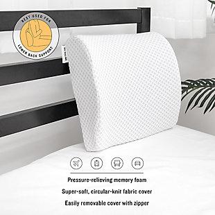 SensorPEDIC® Conforming Memory Foam Lumbar Back Support Pillow, , rollover