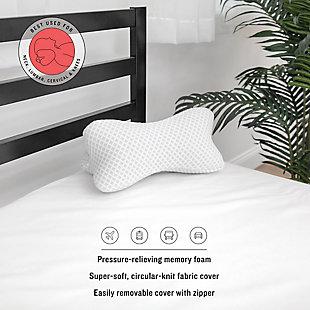 SensorPEDIC® Conforming Memory Foam Bone Pillow, , rollover