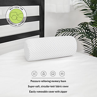 SensorPEDIC® Conforming Memory Foam Neck Roll Pillow, , rollover
