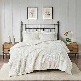 Madison Park Twin/Twin XL Ultra Plush Comforter Mini Set, Ivory, rollover