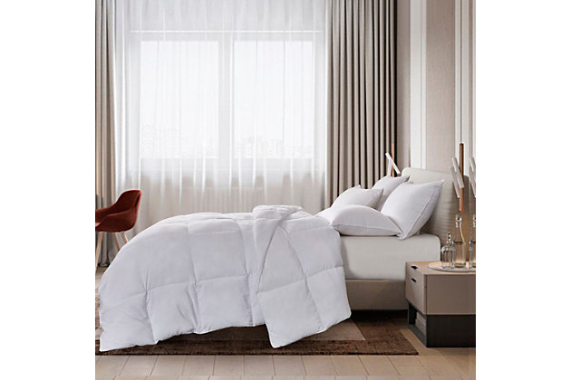 Scott Living Down Alternative Tencel And Polyester Twin Comforter, White, large