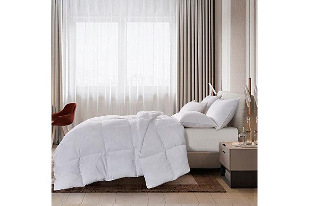 Scott Living Down Alternative Tencel And Polyester Full/Queen Comforter, White, large