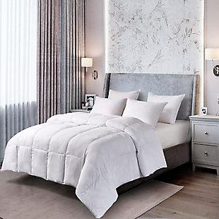 Kathy Ireland Ultra-Soft Nano-Touch All Seasons Duraloft Down Twin Alternative Comforter, White, rollover