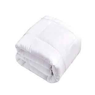 Kathy Ireland Ultra-Soft Nano-Touch All Seasons Duraloft Down Twin Alternative Comforter, White, large