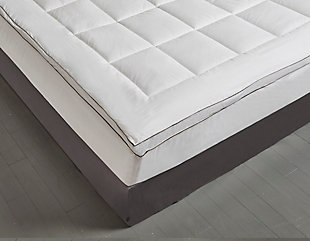 Kathy Ireland Cotton Gusseted Twin Mattress Topper, White, large