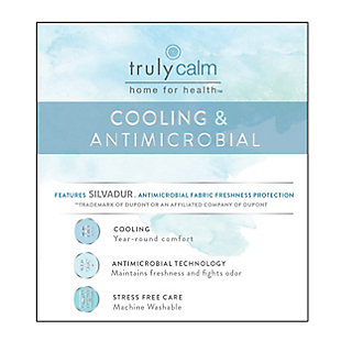 Truly Calm Silver Cool Queen 4 Piece Sheet Set, Blush, large