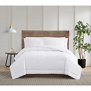 Truly Calm Silver Cool Down Alternative Twin/Twin XL 2 Piece Comforter Set, White, rollover