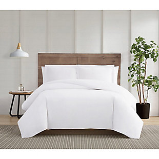 Truly Calm Silver Cool Twin/Twin XL 2 Piece Duvet Set, White, rollover