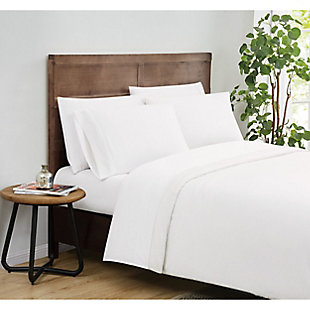 Truly Calm Silver Cool Twin 3 Piece Sheet Set, White, rollover