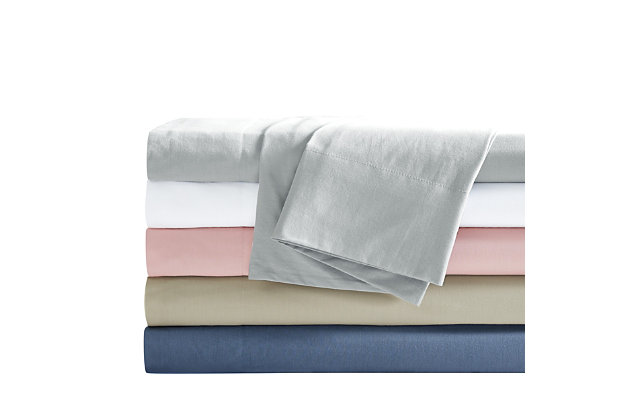 Truly Calm Silver Cool Twin 3 Piece Sheet Set, White, large