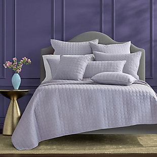 J Queen Caspian Twin/Twin XL 2 Piece Quilt Set, Lavender, rollover