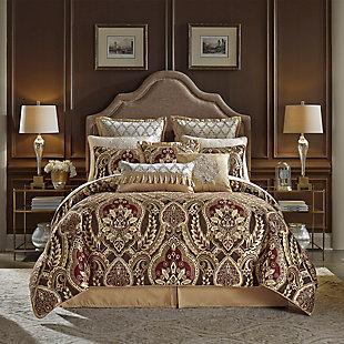Croscill Julius Queen Comforter Set, Red, rollover