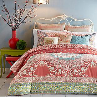 Jessica Simpson Home Amrita Medallion Twin Comforter Set, Pink, rollover