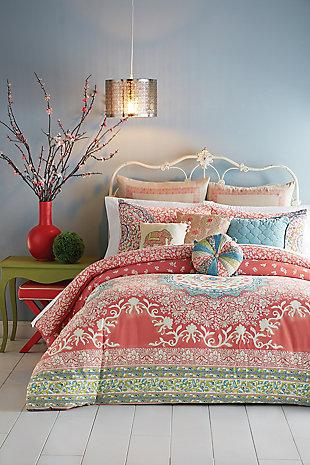 Jessica Simpson Home Amrita Medallion Twin Comforter Set, Pink, large