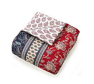 Indigo Bazaar Marbella 5 Piece Queen Comforter Set, Red, rollover