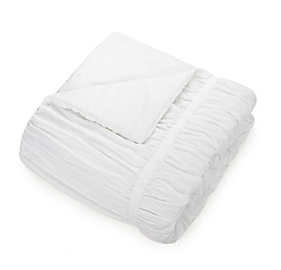 Laurel and Mayfair Emily Texture Twin Comforter Set, White, large