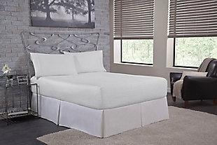 Bedtite 100% Cotton Twin Sheet Set, White, rollover