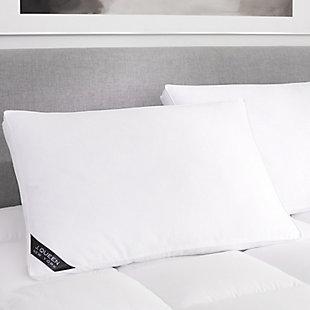 J. Queen New York Regency Standard Queen Firm Pillow, White, rollover