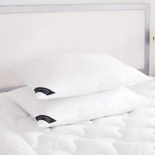 J. Queen New York Royalty Standard Queen Soft Pillow Pair, White, rollover