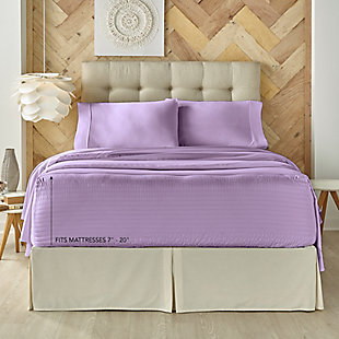 J. Queen New York Royal Fit Queen 4 Piece Sheet Set, Lilac, large
