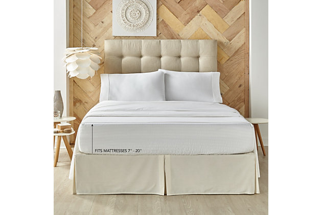 Five Queens Court Royal Fit Full 4 Piece Sheet Set, White, large