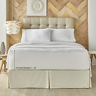 Five Queens Court Royal Fit Queen 4 Piece Sheet Set, White, large