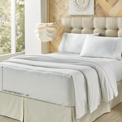 Royal Court Royal Fit Microfiber Twin 3 Piece Sheet Set, White, large