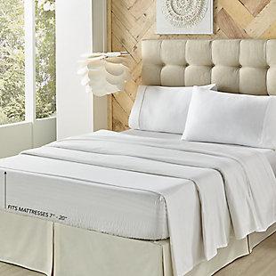Royal Court Royal Fit Coolmax Twin 3 Piece Sheet Set, White, large