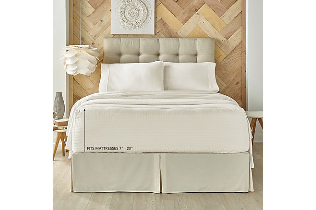 J. Queen New York Royal Fit 100% Egyptian Cotton California King 4 Piece Sheet Set, Ivory, large