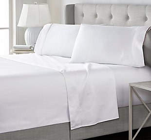 J. Queen New York Royal Fit 100% Egyptian Cotton Queen 4 Piece Sheet Set, White, large