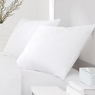 J. Queen New York Regal 2 Pack Sham Standard Stuffer Pillows, White, rollover